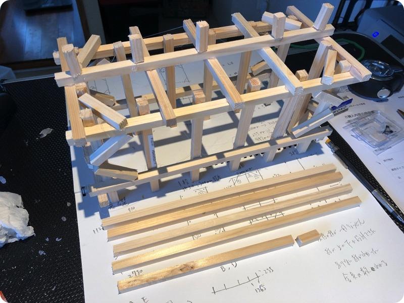 物置の模型作成