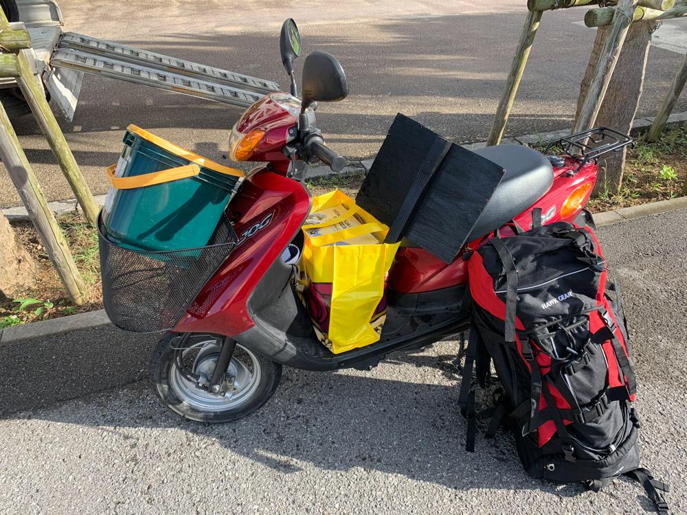 西表島に原付バイクを持っていく