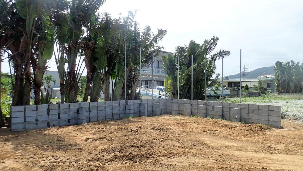 土留めのブロックは完成 No.74